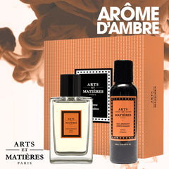 ARTS ET MATIÈRES - Arome D' Ambre para hombre / SET - 100 ml Eau De Toilette Spray + 60 ml After Shave