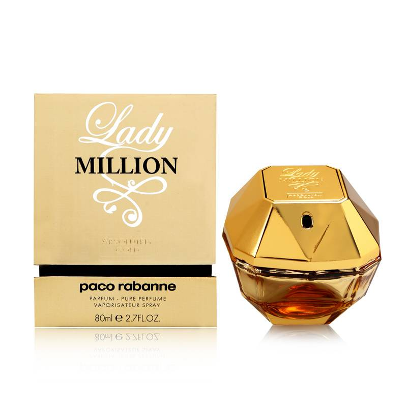 PACO RABANNE - Lady Million Absolutely Gold para mujer / 80 ml Pure Perfume Spray