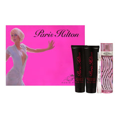 PARIS HILTON - Paris Hilton para mujer / SET - 100 ml Eau De Parfum Spray + 90 ml Crema corporal + 90 ml Gel de baño + 10 ml mini EDP