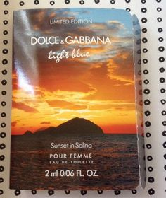 DOLCE & GABBANA - Light Blue Sunset In Salina para mujer / 2 ml Eau De Toilette Spray