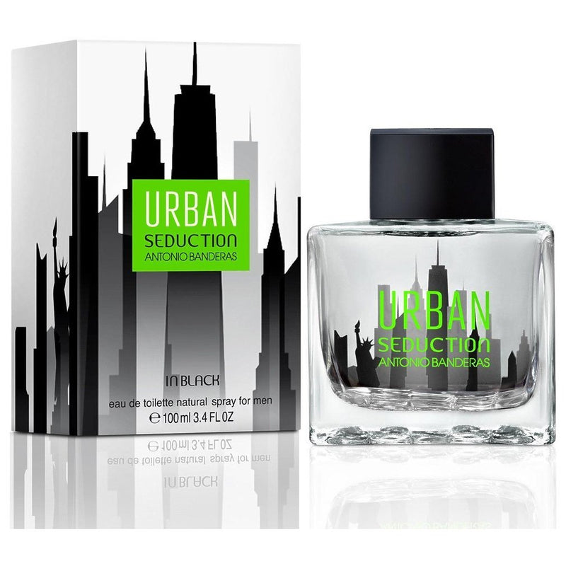 ANTONIO BANDERAS - Urban Seduction In Black para hombre / 100 ml Eau De Toilette Spray