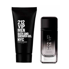 CAROLINA HERRERA - 212 Vip Black para hombre / SET - 100 ml Eau De Parfum Spray + 1 Regalo