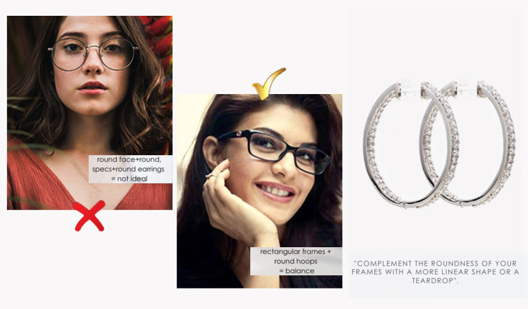 Match your earrings with glasses