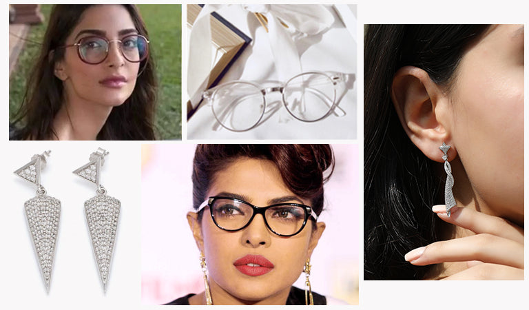 Match earrings with glasses