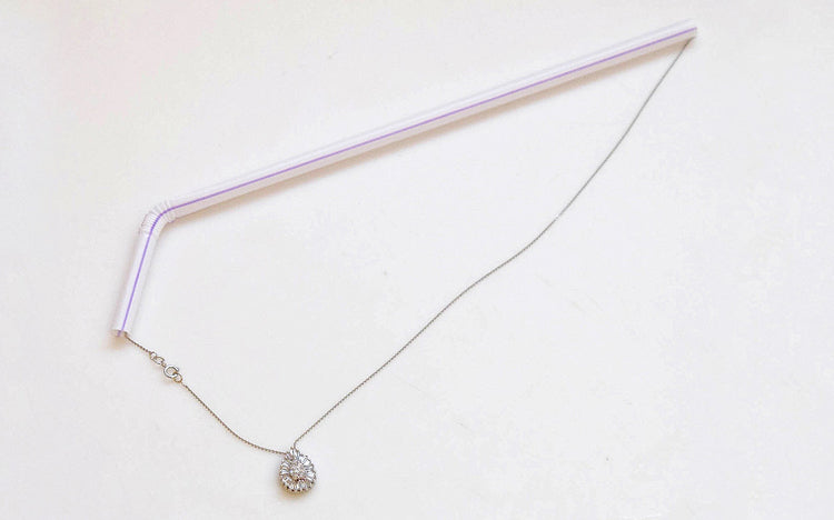 USe straw to store necklace