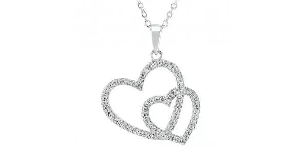 heart shaped necklace with chain