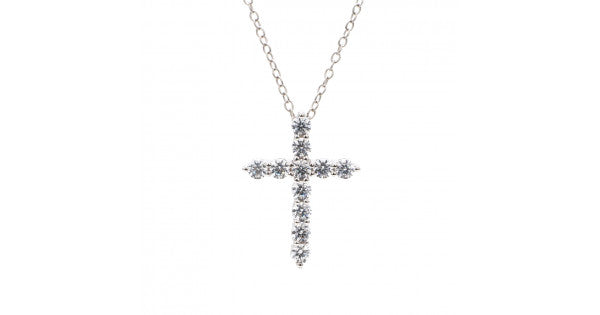 Cross Pendant With Silver Chain
