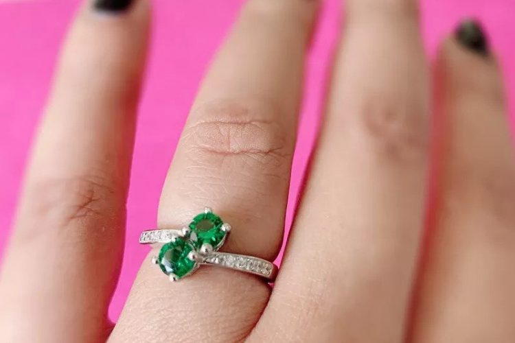 Eternally Forever Emerald Solitaire Ring