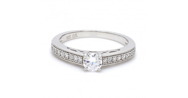 Single Solitaire Ring For Her