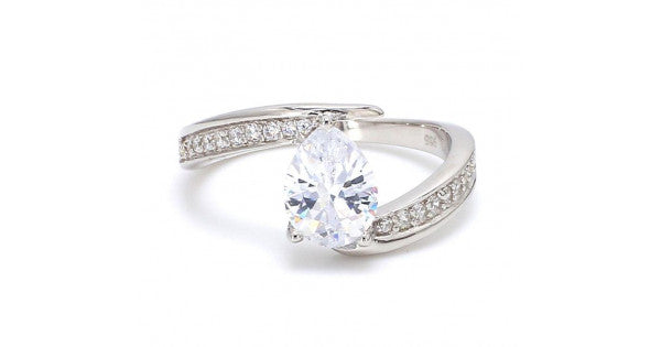 Peary American Diamond Silver Ring