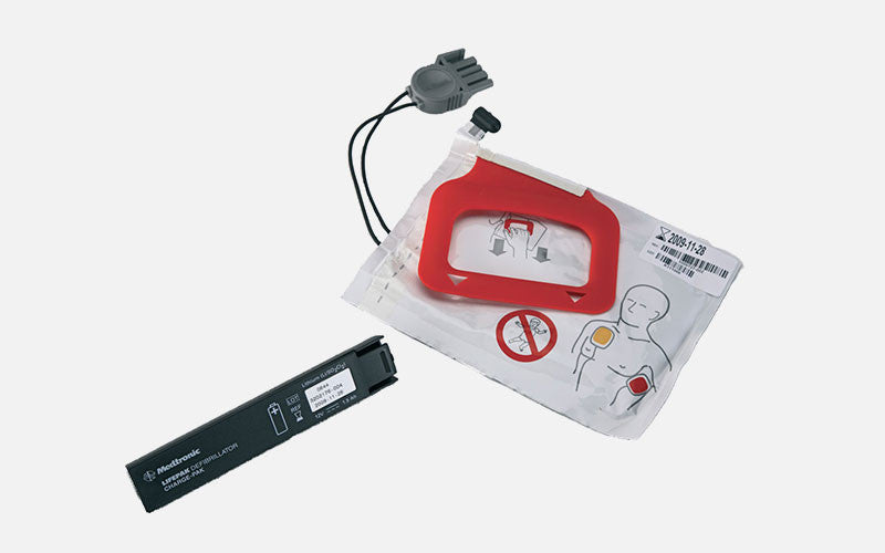 LIFEPAK CHARGE-PAK Charger and 1 Set of QUIK-PAK Electrode Pads