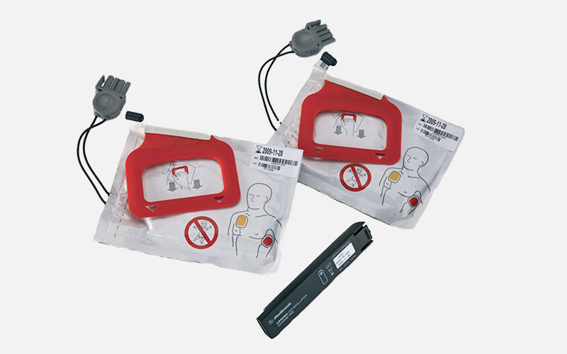 LIFEPAK CHARGE-PAK Charger and 2 Sets of QUIK-PAK Electrode Pads