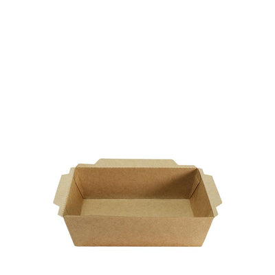 Paper Food Tray Brown Kraft with lid - ($0.22/set) - Laser Packaging Machine MFG Pte Ltd