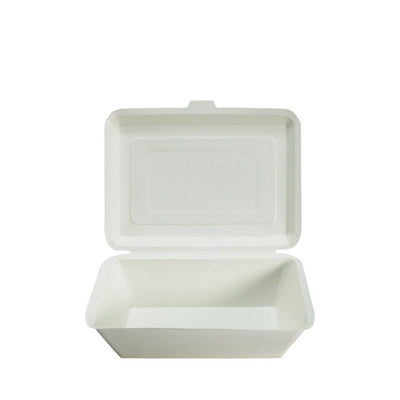 Paper Lunch Box White Tray 1 Compartment - ($0.08/piece) - Laser Packaging Machine MFG Pte Ltd