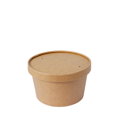 Soup Bowl Brown Kraft 24oz 142mm Diameter - Laser Packaging Machine MFG Pte Ltd