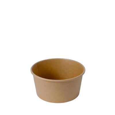 Paper Bowl Brown Kraft 500ml 130mm Diameter - Laser Packaging Machine MFG Pte Ltd