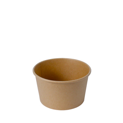 Paper Bowl Brown Kraft 850ml 130mm Diameter - Laser Packaging Machine MFG Pte Ltd