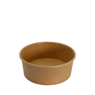 Paper Bowl Brown Kraft 750ml 150mm Diameter - Laser Packaging Machine MFG Pte Ltd