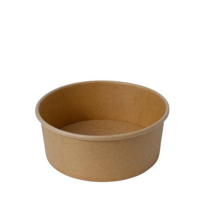 Paper Bowl Brown Kraft 1000ml 165mm Diameter - Laser Packaging Machine MFG Pte Ltd