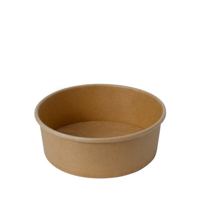 Paper Bowl Brown Kraft 850ml 165mm Diameter - Laser Packaging Machine MFG Pte Ltd