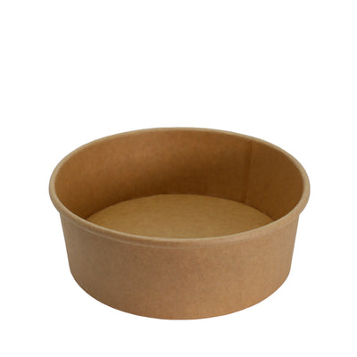 Paper Bowl Brown Kraft 1500ml 185mm Diameter - Laser Packaging Machine MFG Pte Ltd