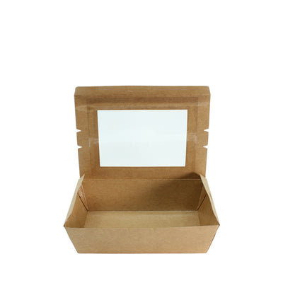Paper Lunch Box Brown Kraft 1 Compartment - ($0.154/piece) - Laser Packaging Machine MFG Pte Ltd