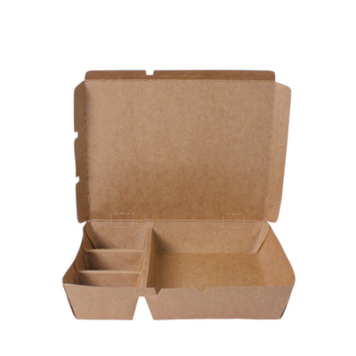 Paper Food Tray 4 compartment - ($0.33/pcs) - Laser Packaging Machine MFG Pte Ltd