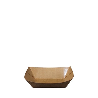 Paper Food Tray Brown Kraft - Laser Packaging Machine MFG Pte Ltd
