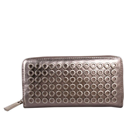 170acb7e552c7 Red Cuckoo London Faux Metallic Leather Purse with Circular Detail –  Moyheeland Traders