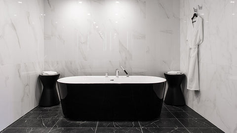 black bathtub