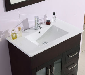 "LAVIVA Nova Collection 32"" Single Bath Vanity with Ceramic Basin Counter and Seamless 18"" Rectangular Sink"