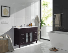"Load image into Gallery viewer, LAVIVA Nova Collection 48"" Single Bath Vanity with Ceramic Basin Counter and Seamless 18"" Rectangular Sink"