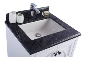 "LAVIVA Odyssey Collection 24"" Single Bath Vanity in White and 20"" Undermount Rectangular Porcelain Sink"