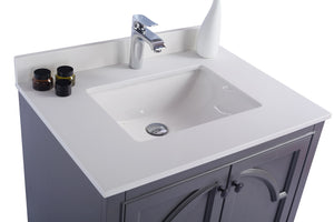 "LAVIVA Odyssey Collection 30"" Single Bath Vanity in Maple Grey and 20"" Undermount Rectangular Porcelain Sink"