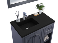 "Load image into Gallery viewer, LAVIVA Odyssey Collection 36"" Single Bath Vanity in Maple Grey and 20"" Undermount Rectangular Porcelain Sink"