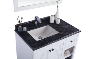 "LAVIVA Odyssey Collection 36"" Single Bath Vanity in White and 20"" Undermount Rectangular Porcelain Sink"
