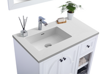 "Load image into Gallery viewer, LAVIVA Odyssey Collection 36"" Single Bath Vanity in White and 20"" Undermount Rectangular Porcelain Sink"