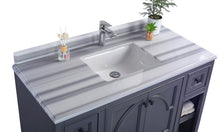 "Load image into Gallery viewer, LAVIVA Odyssey Collection 48"" Single Bath Vanity in Maple Grey and 20"" Undermount Rectangular Porcelain Sink"