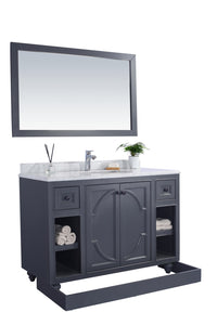"LAVIVA Odyssey Collection 48"" Single Bath Vanity in Maple Grey and 20"" Undermount Rectangular Porcelain Sink"