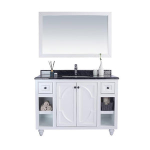 "LAVIVA Odyssey Collection 48"" Single Bath Vanity in White and 20"" Undermount Rectangular Porcelain Sink"