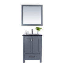 "Load image into Gallery viewer, LAVIVA Wilson Collection 24"" Single Bath Vanity in Grey and 20"" Undermount Rectangular Porcelain Sink"