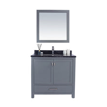 "Load image into Gallery viewer, LAVIVA Wilson Collection 36"" Single Bath Vanity in Grey and 20"" Undermount Rectangular Porcelain Sink"