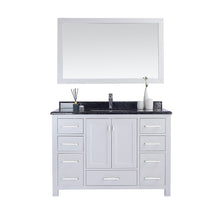 "Load image into Gallery viewer, LAVIVA Wilson Collection 48"" Single Bath Vanity in White and 20"" Undermount Rectangular Porcelain Sink"