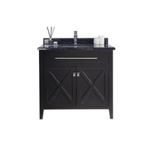 "Load image into Gallery viewer, LAVIVA Wimbledon Collection 36"" Single Bath Vanity in Espresso and 20"" Undermount Rectangular Porcelain Sink"