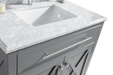 "Load image into Gallery viewer, LAVIVA Wimbledon Collection 36"" Single Bath Vanity in Grey and 20"" Undermount Rectangular Porcelain Sink"