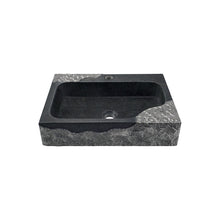 Load image into Gallery viewer, Polaris P568 Impala Black Granite Rectangular Vessel Sink