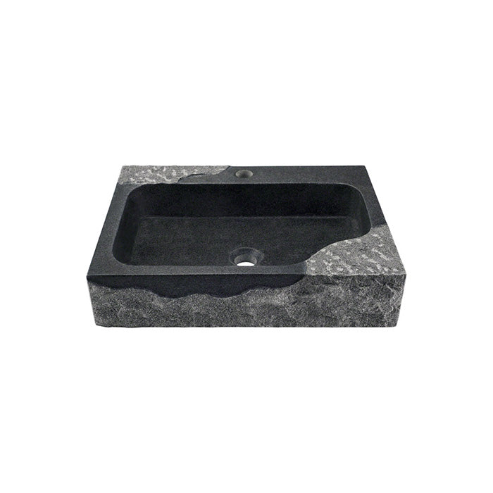 Polaris P568 Impala Black Granite Rectangular Vessel Sink