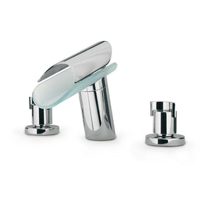 LaToscana Morgana Roman Tub Lavatory Faucet with Glass Spout