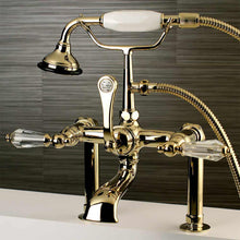 Load image into Gallery viewer, Aqua Vintage Wilshire Deck Mount Clawfoot Tub Faucet