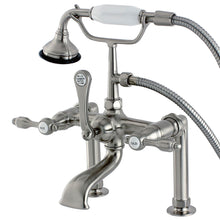 Load image into Gallery viewer, Aqua Vintage Tudor Deck Mount Clawfoot Tub Faucet